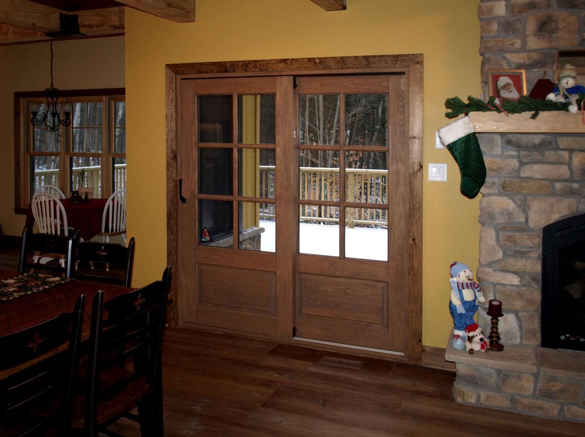Portes coulissantes sherbrooke portes et fen tres inc for Porte fenetre coulissante bois